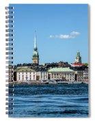Stockholm From Lake Malaren Spiral Notebook