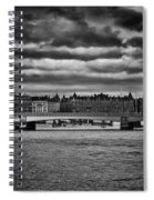 Stockholm In Black And White Spiral Notebook