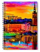 Stockholm Reflective Art Spiral Notebook