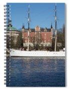 Stockholm Ship Spiral Notebook