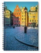 Stockholm Stortorget Square Spiral Notebook