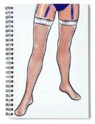 Stocking Legs Pop Art Spiral Notebook