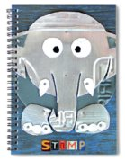 Stomp The Elephant Recycled License Plate Animal Art Spiral Notebook