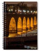 Stone Arch Bridge Night Shot Spiral Notebook