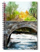 Stone Bridge In Maine  Spiral Notebook