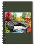 Stone Bridge In Maine  Spiral Notebook