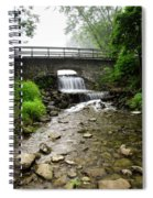 Stone Bridge Over Small Waterfall Spiral Notebook