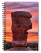 Stone Face Sunset Spiral Notebook