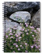 Stone Flowers Pink Spiral Notebook
