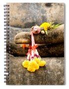 Stone Hand Of Buddha Spiral Notebook