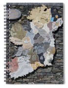 Stone Map Of Ireland Spiral Notebook
