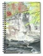 Stone Mountain Falls - The Upper Cascade - IIi - Autumn Spiral Notebook