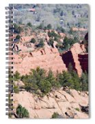 Stone Quarry In Red Rock Canyon Open Space Park Spiral Notebook