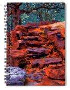 Stone Steps In Autumn Spiral Notebook