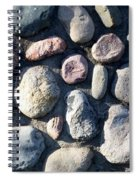 Stone Wall At Gallup Park Spiral Notebook