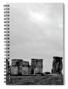 Stonehenge - B/w 2 Spiral Notebook