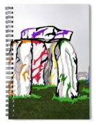 Stonehenge Chakras Spiral Notebook