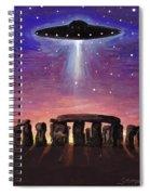 Stonehenge Ufo Spiral Notebook