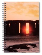 Stonehenge Winter Solstice Spiral Notebook