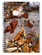 Stones And Ice Spiral Notebook