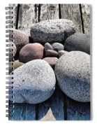 Stones And Old Wood 3  Spiral Notebook
