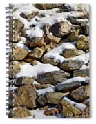 Stones And Snow Spiral Notebook