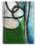 Stones- Green And Blue Abstract Spiral Notebook