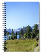 Stoney Indian Pass Trail Around Cosley Lake - Glacier National Park Spiral Notebook