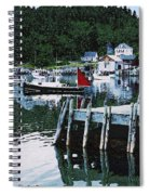 Stonington Harbor With Pier Maine Coast Spiral Notebook