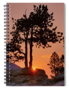 Stop Right Here - Rocky Mountain Np - Sunrise Spiral Notebook