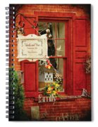 Store - Strausburg Pa - Thistle And Vine Spiral Notebook