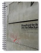 Storefront For Art And Architecture Spiral Notebook