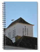 Stork And Nest On Roof In Faro. Portugal Spiral Notebook