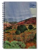 Storm Approaching The Ridge Spiral Notebook