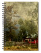 Storm Approaching White Birch Cottage Spiral Notebook