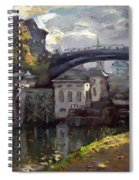 Storm Aproach At Lockport Locks Spiral Notebook