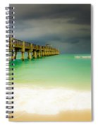 Storm Arrives At The Pier Spiral Notebook