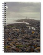 Storm At Morro Rock Breakwater Morro Bay California Spiral Notebook