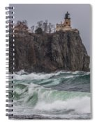Storm At Split Rock Lighthouse Spiral Notebook