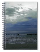 Storm At The Beach Spiral Notebook