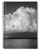 Storm Cloud On The Horizon Spiral Notebook