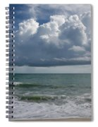 Storm Clouds Above The Atlantic Ocean Spiral Notebook