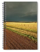 Storm Clouds Along A Saskatchewan Country Road Spiral Notebook