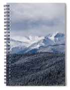 Storm Clouds Receding And Fresh Snow On Pikes Peak Spiral Notebook