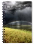 Storm Clouds And Rainbow Over Chaplin Lake Marshes Spiral Notebook