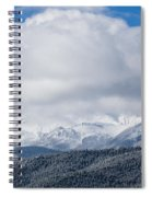 Storm Clouds And Snow On Pikes Peak Spiral Notebook