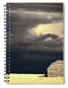 Storm Clouds Behind Abandoned Saskatchewan Barn Spiral Notebook
