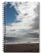 Storm Clouds Clearing The Beach With Wind Farm In The Background Skegness Lincolnshire England Spiral Notebook