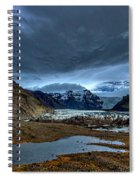 Storm Clouds Over A Glacier - Iceland Spiral Notebook