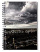Storm Clouds Over Beached Shipwreck Spiral Notebook